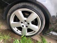 "audi a3 alloys 18"" genuine new tyres"