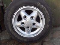 land rover alloy wheels tyres 265 x 70 x r15