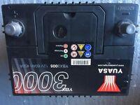 YUASA YBX3005 60AH 450A Car battery from Mazda 323