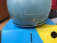 piaggio vespa helmet 70th anniversary blue new boxed bargain !!!