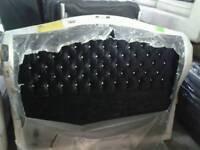 Brand new kingsize wing back headboard in black crushed velvet only £ 135