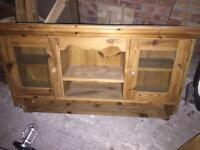 Pine wall cabinet.