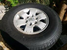Yokahama geolander tyres and mitsubishi shogun alloy wheels