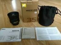 Nikon lens 35 mm 1.8 G