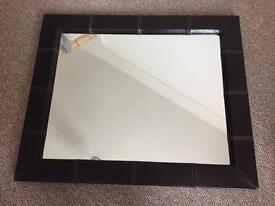 PU Leather Framed Mirror