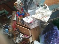 car boot load including chest of drawers, 2 metal framed tables, vac, breadmaker, rug (NG5)