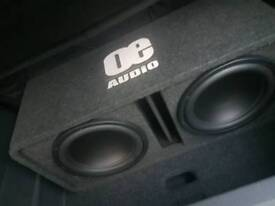 Brand New Loudest sub around 12 Twin Active Amplified Bass Box Sub Car Subwoofer Amplifier 3600W
