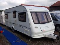 2004 Elddis Riviera (Odyssey) 534 4 Berth Fixed Bed Lightweight Caravan with MOTOR MOVER and Awning