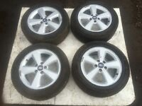 FORD FOCUS, 2007, SET OF ALLOY WHEELS AND TYRES, 5 STUD, FOR SALE