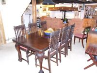 Magnificent Solid Mahogany Victorian Windout Table