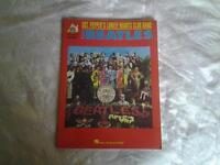 """Guitar music book of THE BEATLES """" SGT. PEPPER'S LONELY HEARTS CLUB BAND""""."""