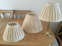 Gold effect table lamp plus two other shades