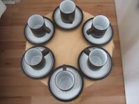 Antique 1973 Hornsea Potter coffee set (contrast) bought from Fenwick in 1973 in perfect condition,