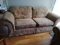 Large 3 seater sofa and matching arm chair
