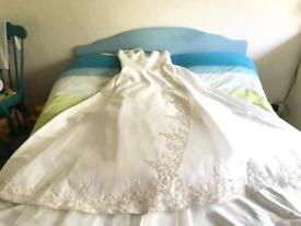 Ivory beaded wedding dress size 12