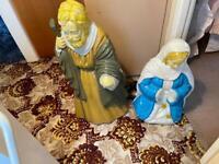 Blowmould Mary, Joseph and Jesus