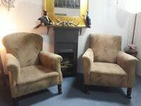 1920/30s vintage His n Hers chairs