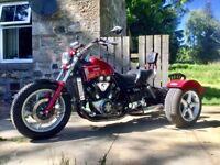 Yamaha VMax full power model 1200cc trike. Low mileage. MOT til Feb 19. Runs & sounds awesome! £4750
