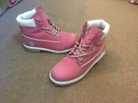 Ladies Size 5 pink Timberland boots