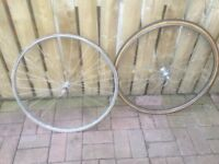 TWO FRONT 700c SPRINT WHEELS FOR SALE.