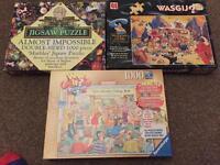 3 collectible jigsaws