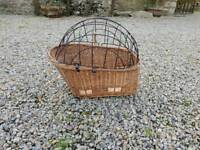 Bicycle Wicker Basket Animal Carrier