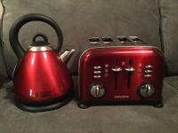 Kitchen kettle and 4 slice toaster set