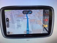 TomTom Go 5100 GPS Sat Nav - World maps, with built-in SIM card, traffic, speed camera alerts