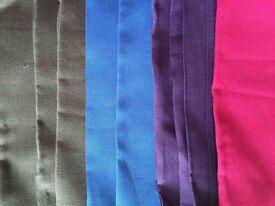Fabric bundles - 25cm strips of Irish Linen full width 150cms in various colours £1 each