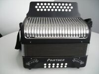 HOHNER PANTHER DIATONIC BUTTON ACCORDION--MANCHESTER