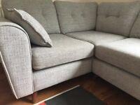 """Kindle"" Fabric Corner Sofa, grey - right hand facing"