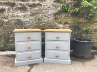 Solid pine Bedside tables in grey / chests / bedroom furniture