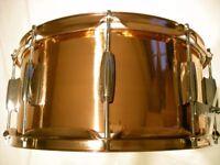 "Cannon copper snare drum 14 x 6 1/2"" - NOS - '90s"