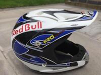 Airoh open face motocross motorbike helmet