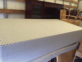 Single divan bed with clean mattress