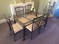Glass furniture tables chairs