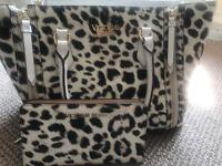 GENUINE Victoria's Secret matching leather bag and purse. Excellent condition.
