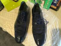 Men's smart shoes 8/42 navy used Ex condition