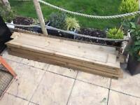 Wooden fence boarding