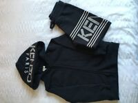 Boys navy kenzo tracksuit (shorts with zipper ) age 6