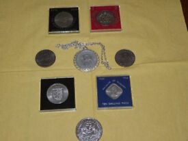 8 Commemorative Coins and Medallions