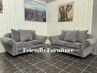 Beautiful 2+2 seater grey sofa set