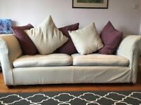 Cream sofa made by Sofa Magic