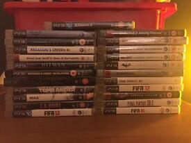 Twenty three (23) PS3 Games