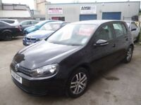 Stunning black Volkswagen GOLF SE TDI 140,5 door hatchback,6 speed manual,new shape,FSH,Sports Golf