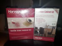 Harveys furniture cleaning kits.
