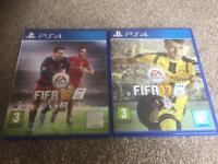 Fifa 16 and Fifa 17 on PS4