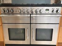 Rangemaster electric cooker and gas hob