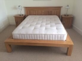 Double Solid Oak Bed