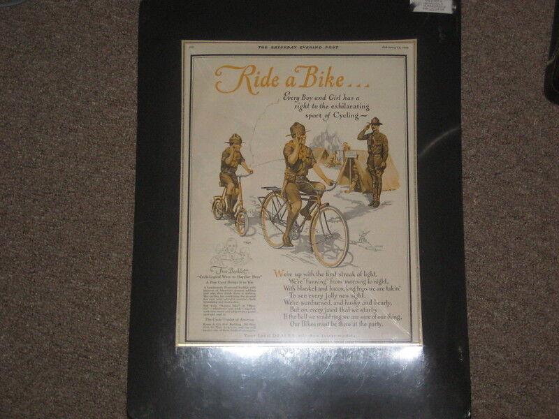 1929 Saturday Evening Post Boy Scout Bike Ad         j6